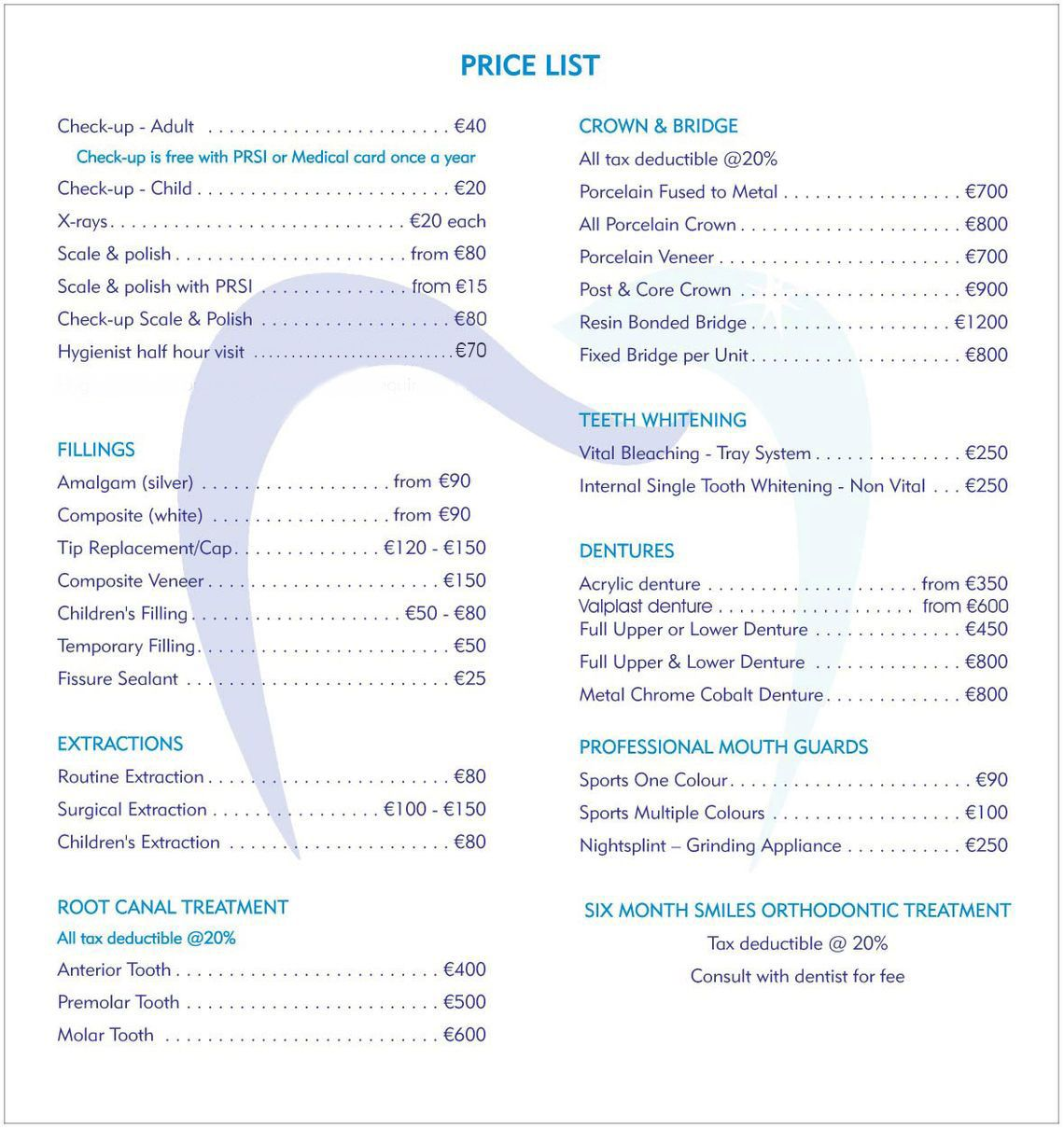 dental fees
